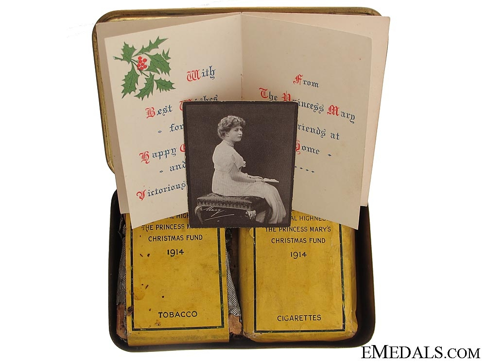 eMedals-A Complete WWI Princess Mary Tin
