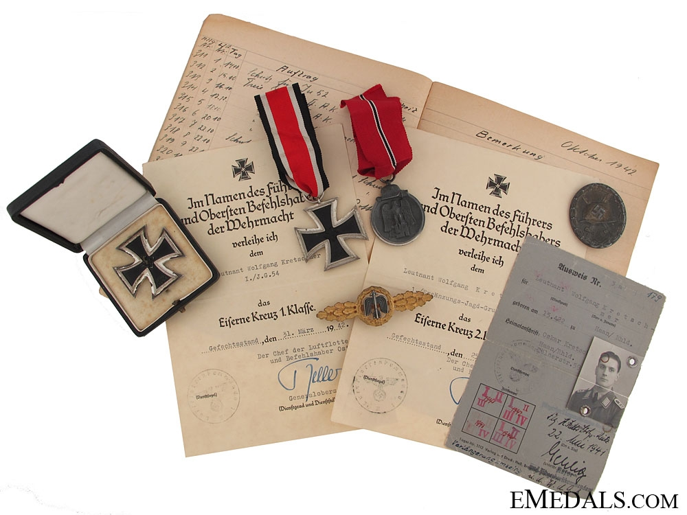 eMedals-A WWII German Air Ace Group - 19 Victories