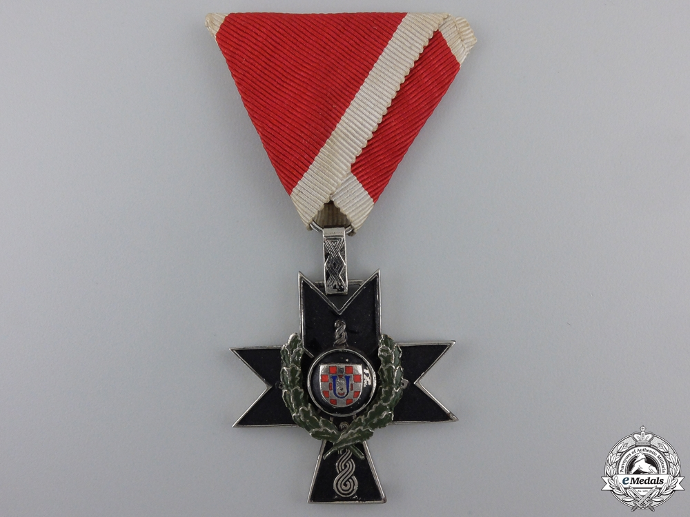 eMedals-A Croatian Order of Iron Trefoil; Fourth Class for Gallantry