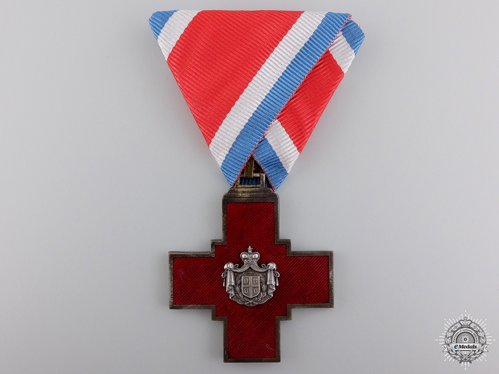 eMedals-A Decoration of the Serbian Red Cross 1876; Type I