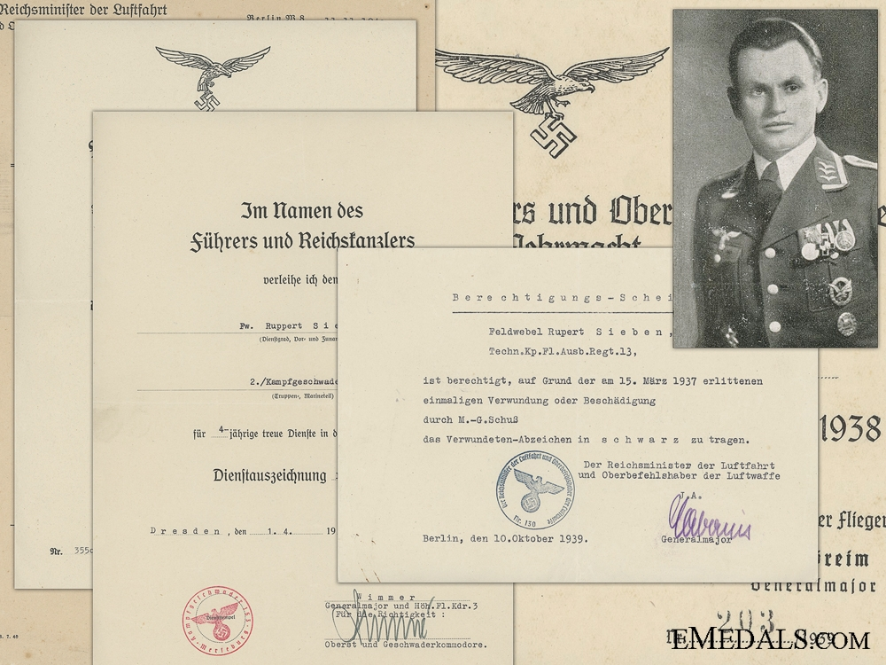 eMedals-A Document Group to the Legion Condor; KIA in Russia