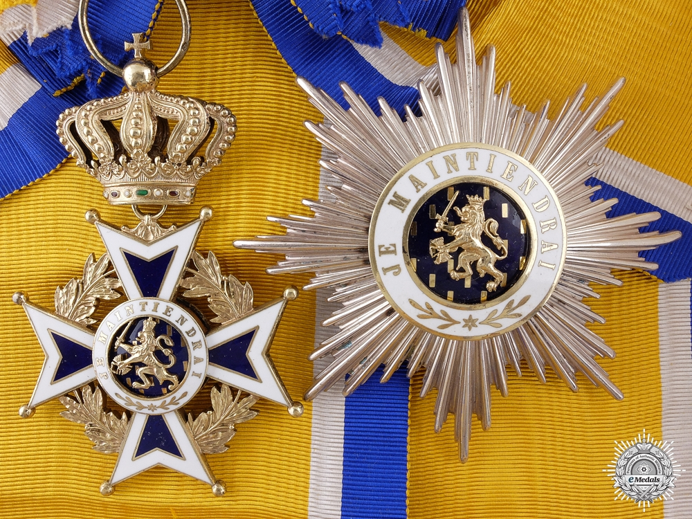 eMedals-A Dutch Order of Orange Nassau; Grand Cross Set
