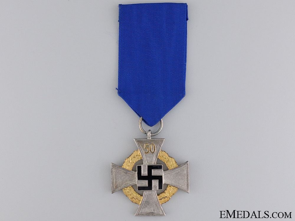 eMedals-A Faithful Service Decoration; Special Class for Fifty Years' Service