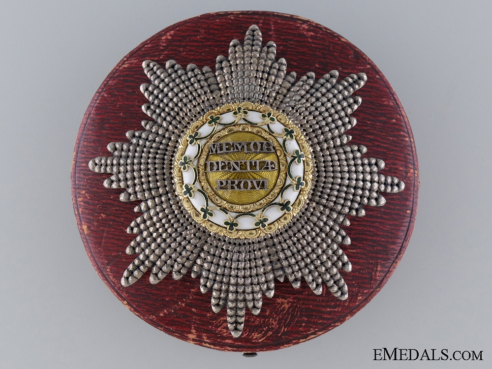 eMedals-A Fine & Early 1840's Saxon Order of Rue Crown with Case