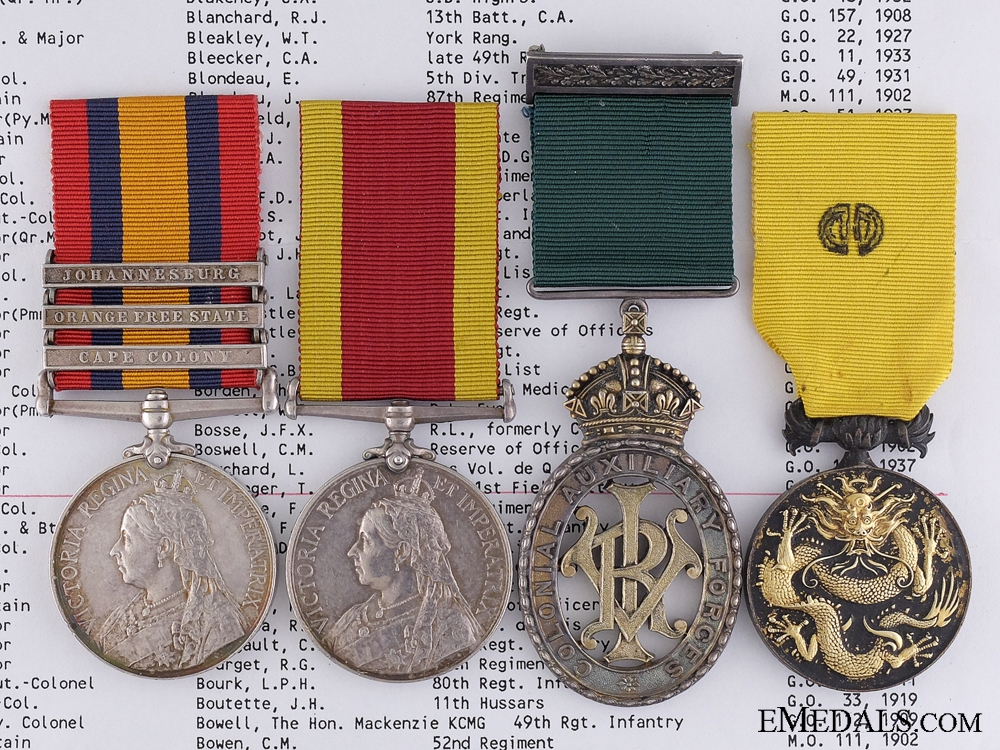 eMedals-A Fine Canadian Medal Group to Major Theodore L. Boulanger