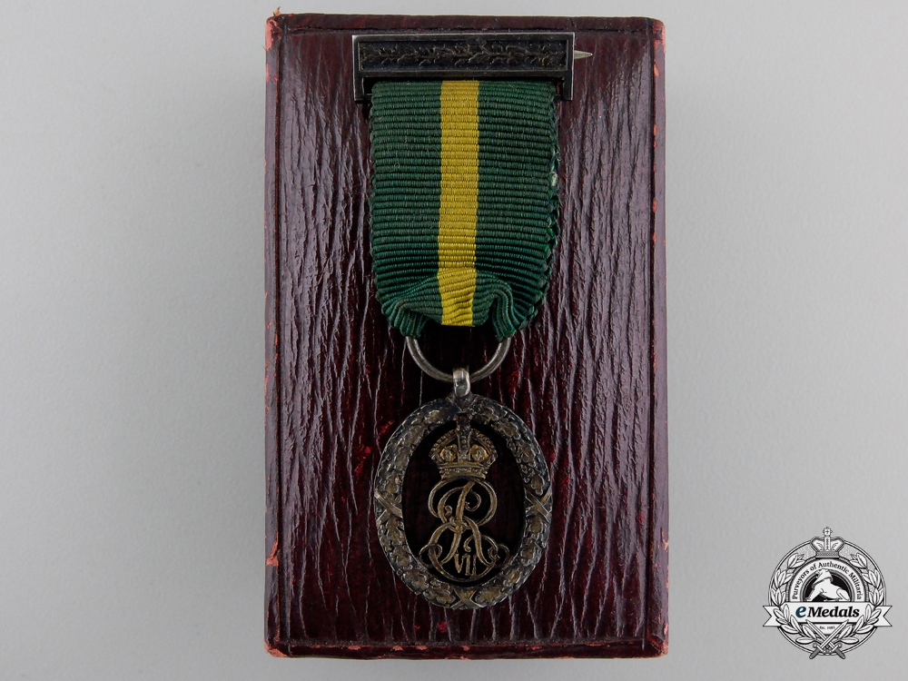 eMedals-A Fine Edward VII Miniature Territorial Decoration with Case