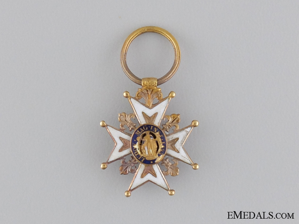 eMedals-A Fine Miniature French Order of St.Louis in Gold