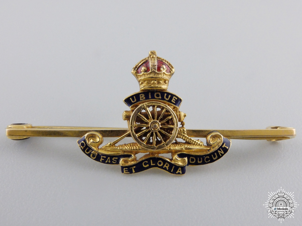 eMedals-A Fine Royal Artillery Badge in Gold by Charles Perry & Co.