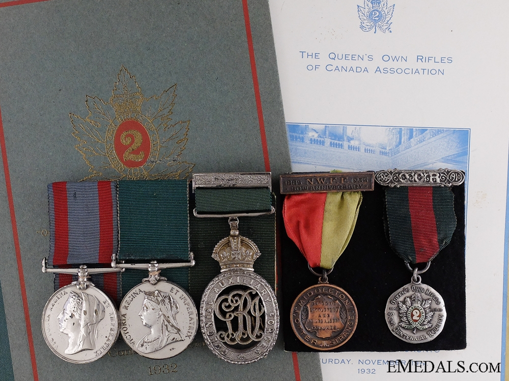eMedals-A Fine Victorian Medal Group to the Queen's Own Rifles of Canada
