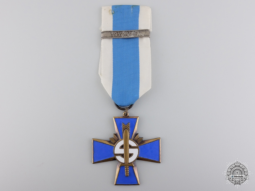 eMedals-A Finnish Blue Cross for the Civil Guard