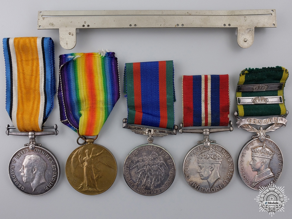 eMedals-A First & Second War Efficiency Medal Group to the Midland Regt.