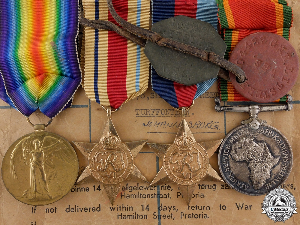 eMedals-A First & Second War South African Medal Group