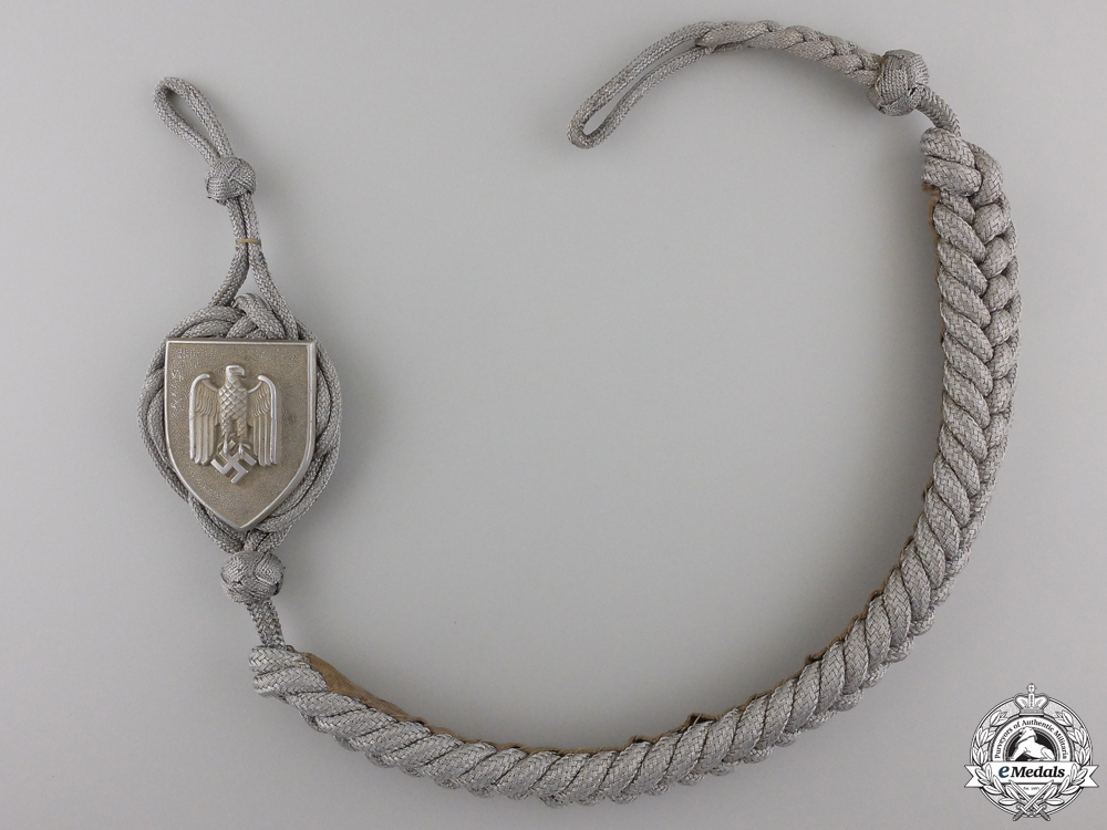 eMedals-A First Type German Army Shooting Lanyard; Grade I