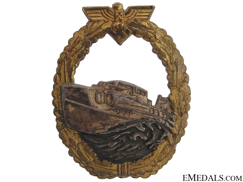 eMedals-A First Version E-Boat Badge by Schwerin