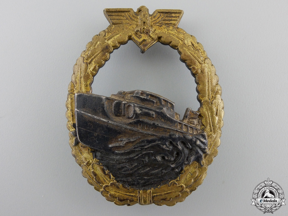 eMedals-A First Version E-Boat Badge by Schwerin; First Version