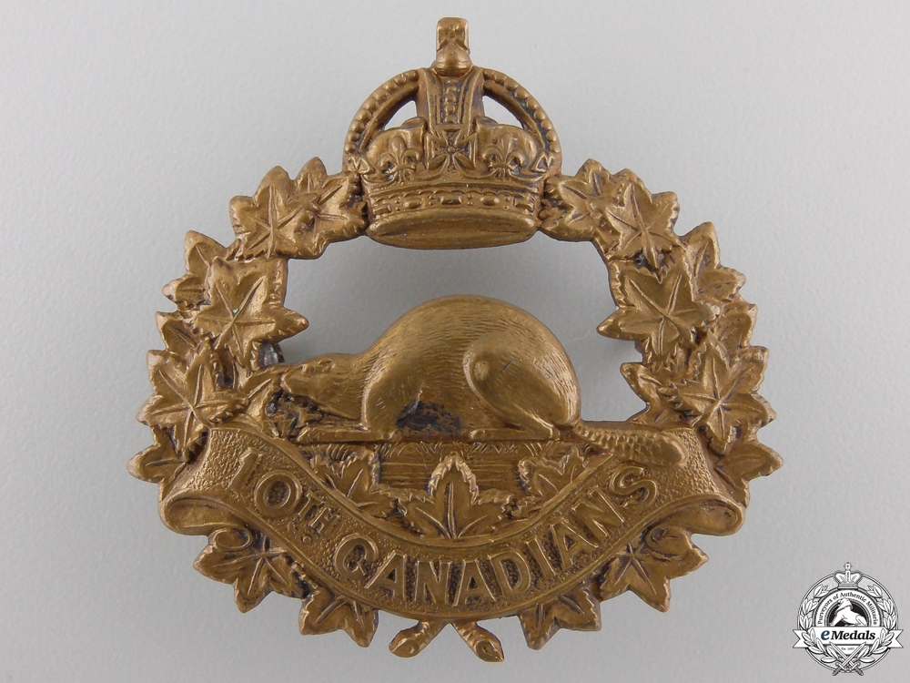 eMedals-A First War 10th Infantry Battalion Cap Badge