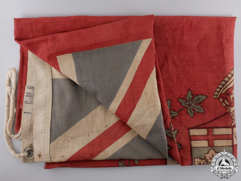 eMedals-A First War 1st Canadian Mounted Rifles Canadian Flag