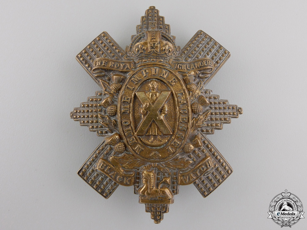 """eMedals-A First War 42nd Battalion """"Royal Highlanders of Canada"""" Badge"""