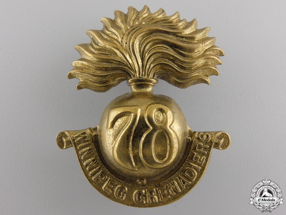 eMedals-A First War 78th Canadian Infantry Battalion Cap Badge