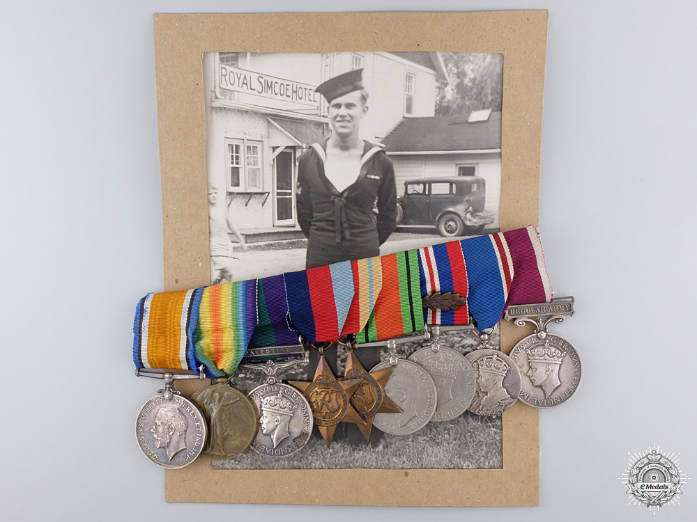eMedals-A First War & Palestine Service Group of Nine Awards