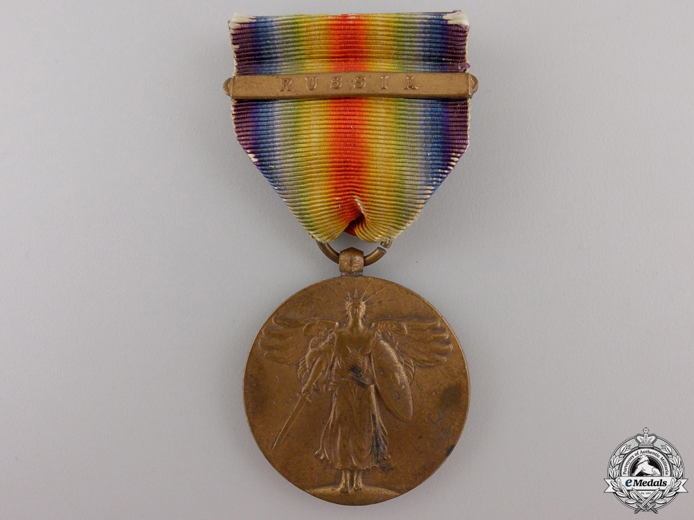 eMedals-A First War American Victory Medal; Russia Clasp