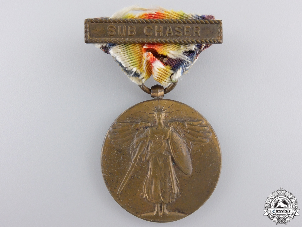 eMedals-A First War American Victory Medal; Sub Chaser Clasp