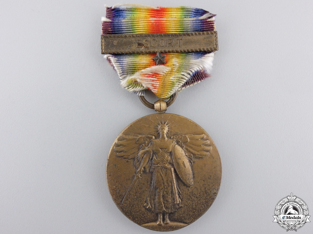 eMedals-A First War American Victory Medal; Escort Clasp