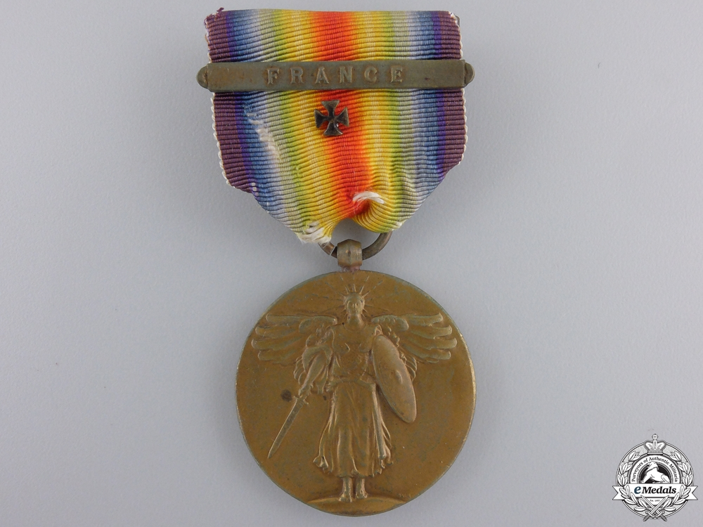 eMedals-A First War American Victory Medal; France Clasp