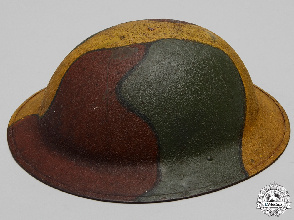 eMedals-A First War American Manufactured M1917 Camouflage Helmet