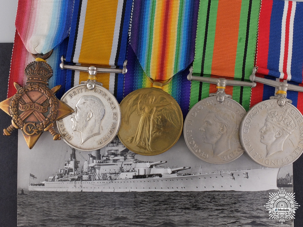 eMedals-A First War British Naval Group to the Battle-Cruiser H.M.S. Renown