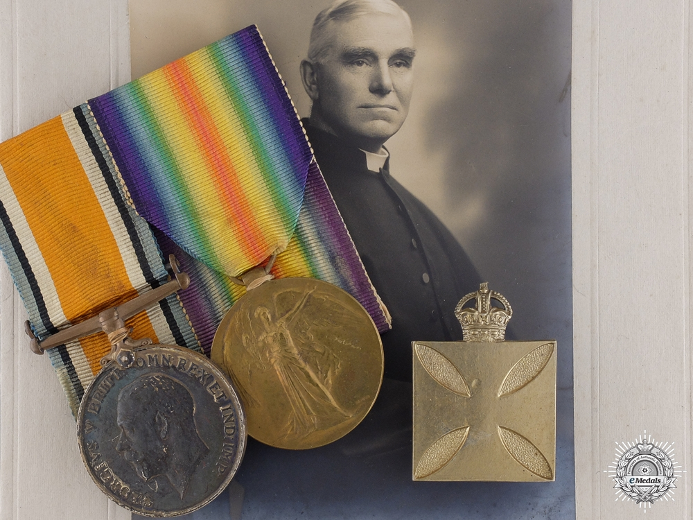 eMedals-A First War British Pair to Reverend Leonard T. Strong
