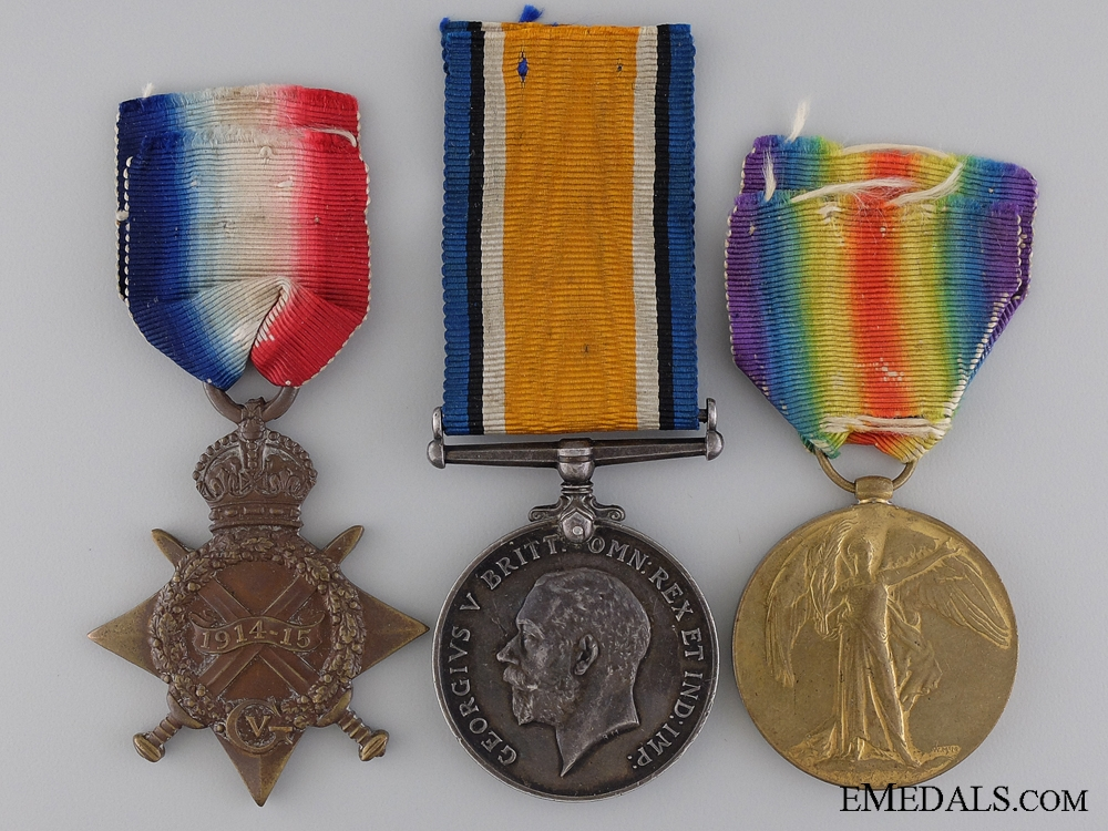 eMedals-A First War Canadian Medal Trio to Military Medal Recipient