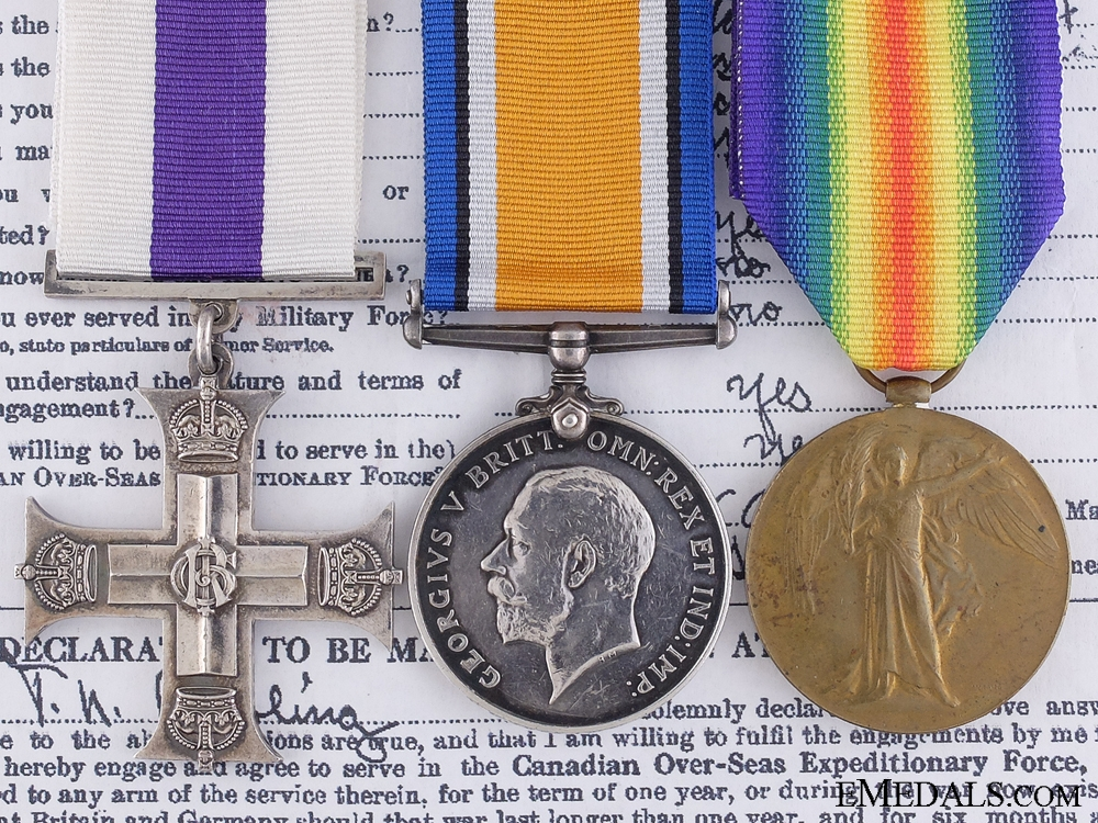 eMedals-A First War Canadian Military Cross for the Rescue of Wounded Officer