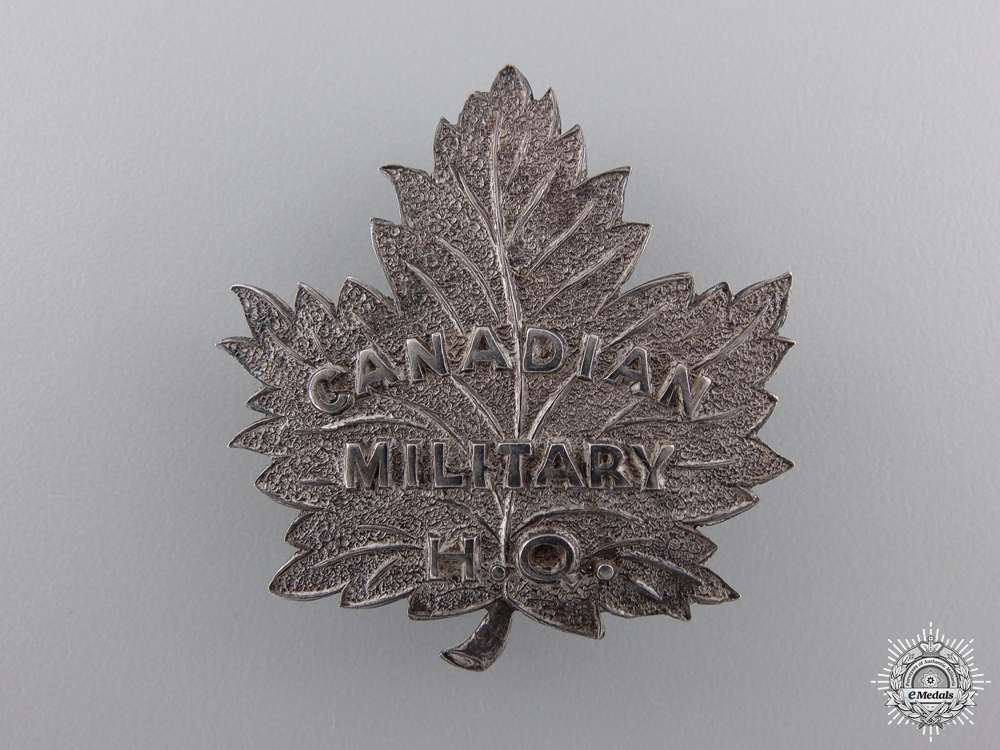 eMedals-A First War Canadian Military Headquarters Pin
