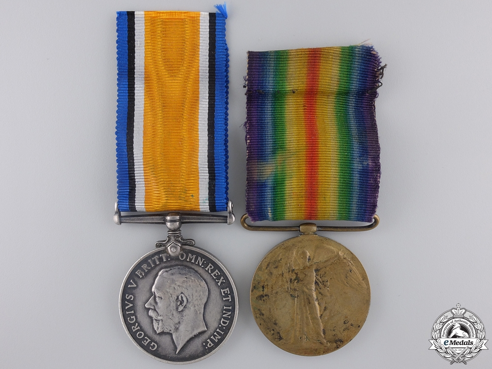 eMedals-A First War Canadian Medal Pair to the 22nd Infantry Battalion