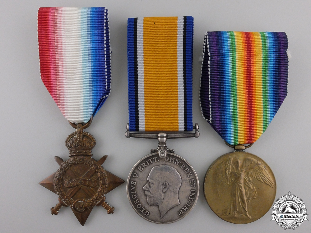 eMedals-A First War Canadian Medal Trio to the Little Black Devils