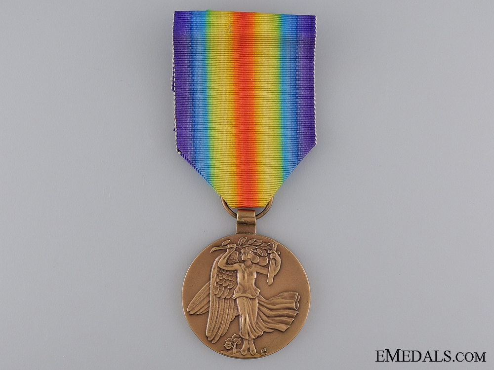 eMedals-A First War Czechoslovakian Victory Medal; Re-Issue Type