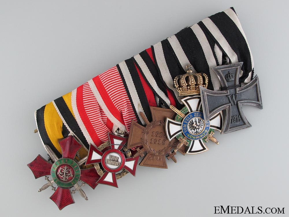 eMedals-A First War Frock Five Piece Combatants Medal Bar  CONSIGNMENT 11
