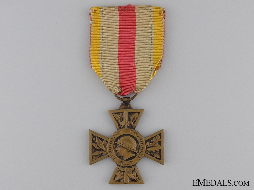 eMedals-A First War French Volunteer Combatant's Cross 1914-1918