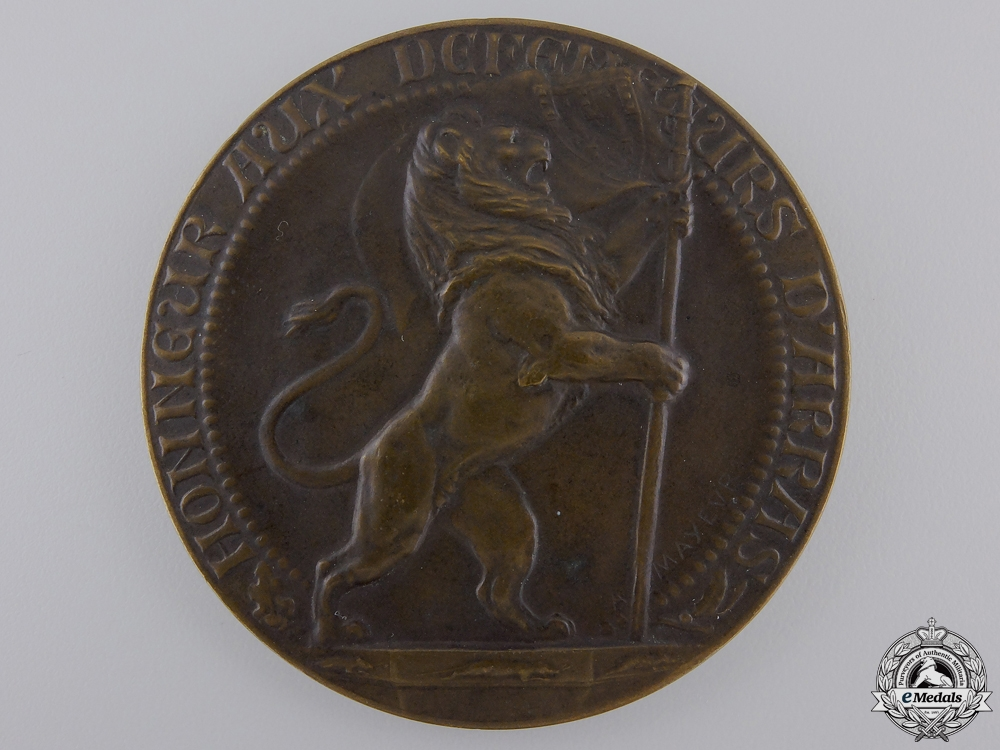 eMedals-A First War French Shame For Vandals Medal 1914-1918