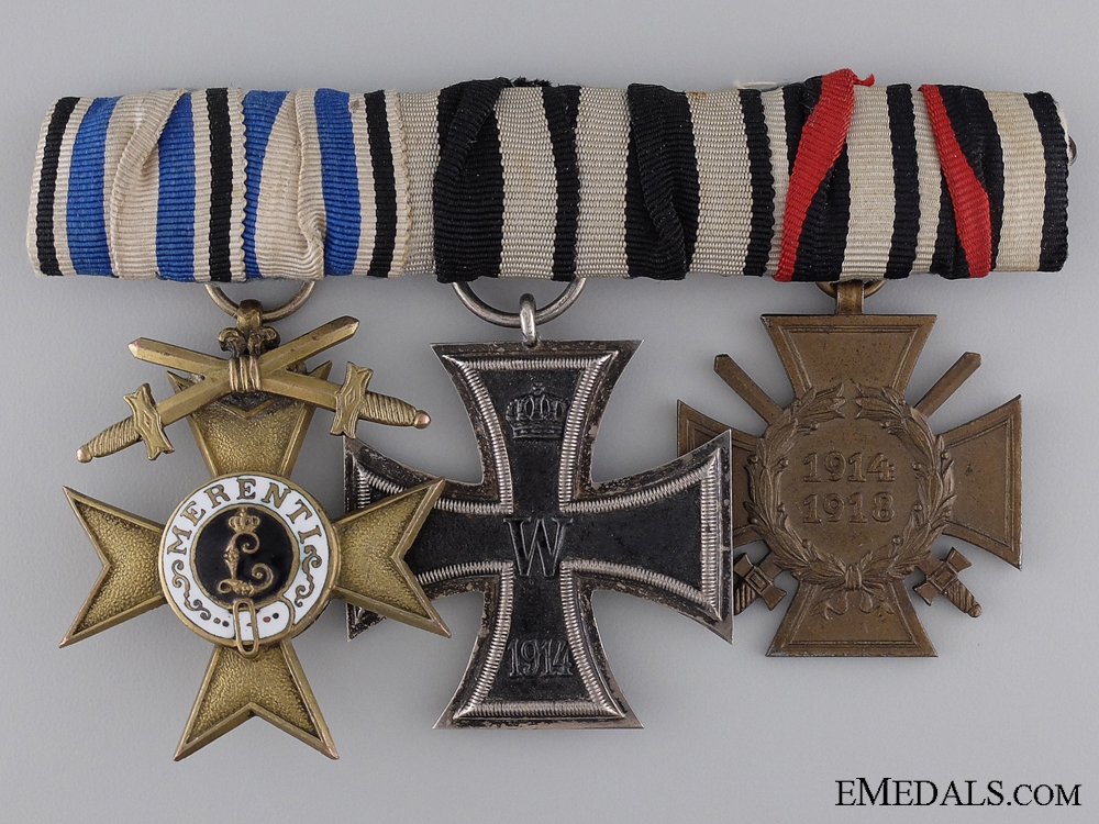 eMedals-A First War German Imperial Group of Three Awards