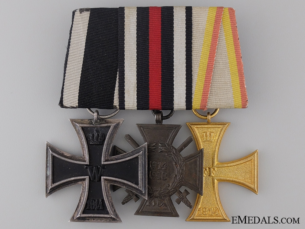 eMedals-A First War German Imperial Medal Bar with an Iron Cross by Godet