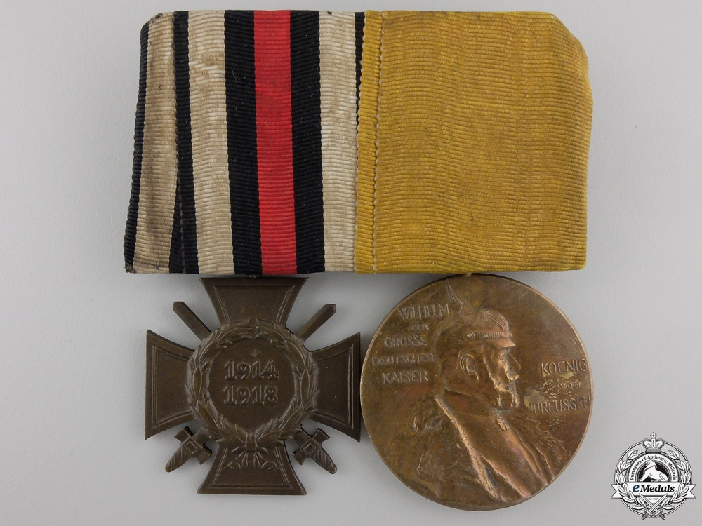 eMedals-A First War German Imperial Medal Pair