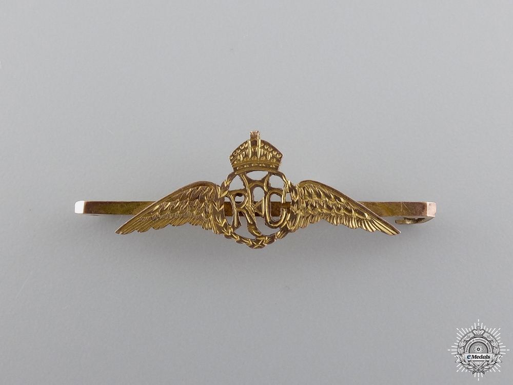 eMedals-A First War Gold Royal Flying Corps Wings