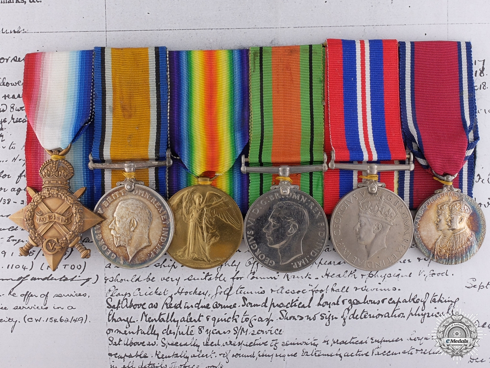 eMedals-A First War Group to Submarine Lt. Commander for H.M.S. L-6