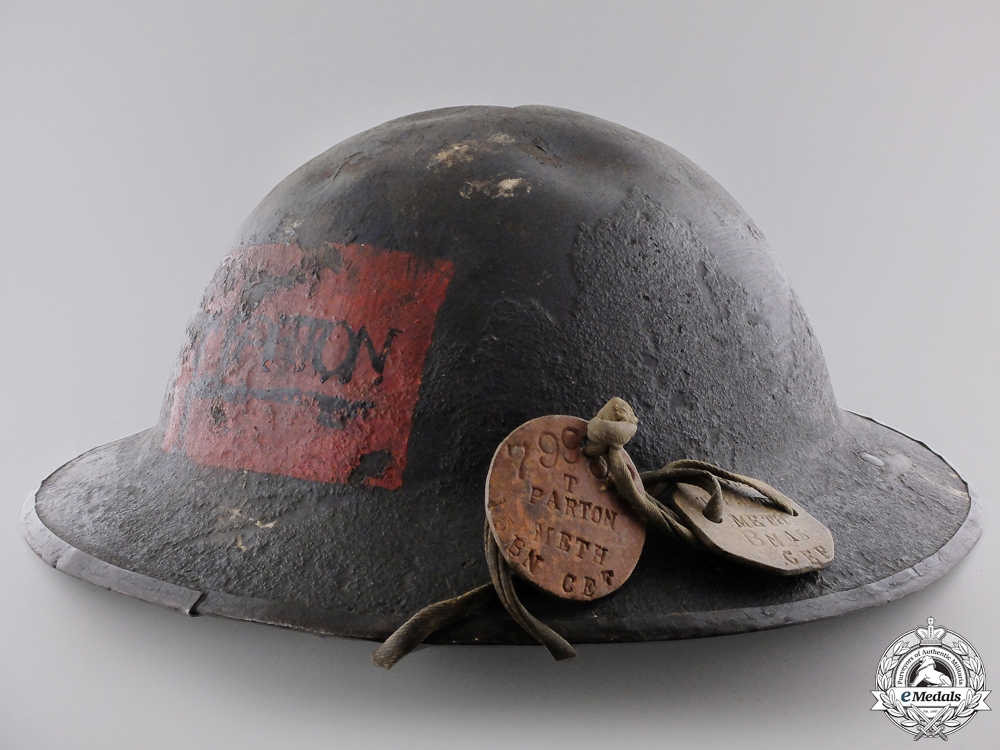 eMedals-A First War Helmet of T.Parton; 15th Canadian Infantry Battalion
