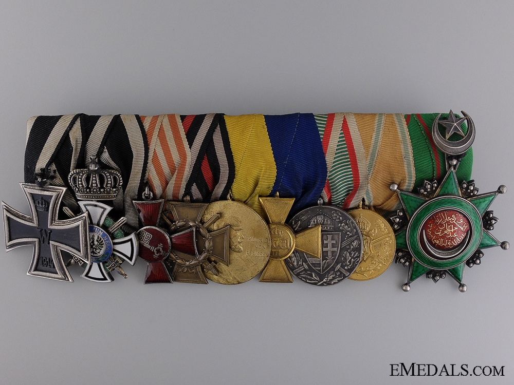 eMedals-A First War Imperial Medal Bar with Turkish Order of Osmania