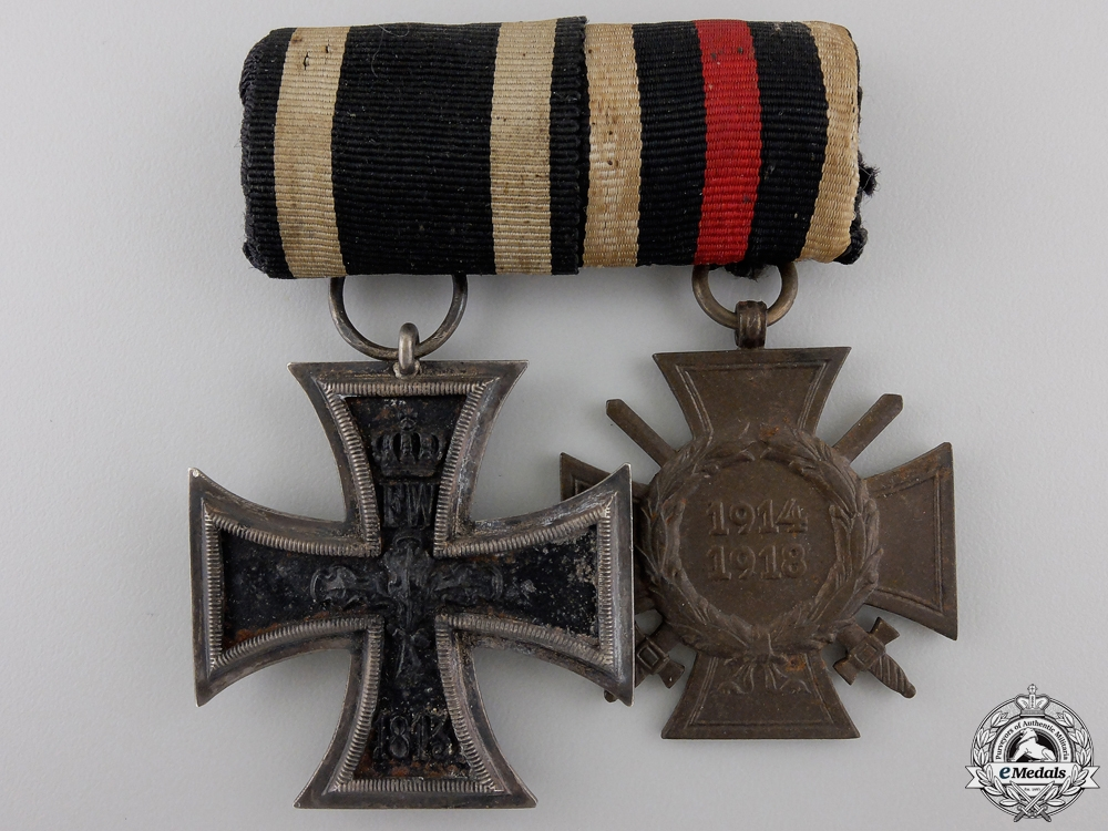eMedals-A First War Iron Cross Medal Pair; Sy-Wagner