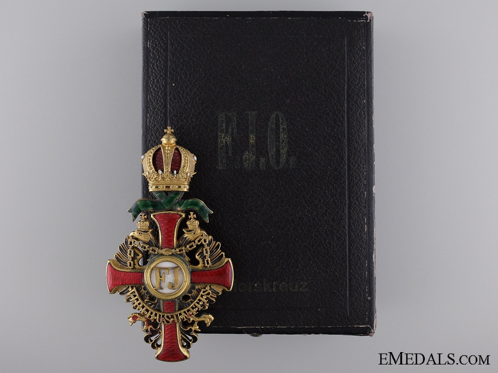 eMedals-A First War Issue Order of Franz Joseph by V. Mayer; Officer's Cross