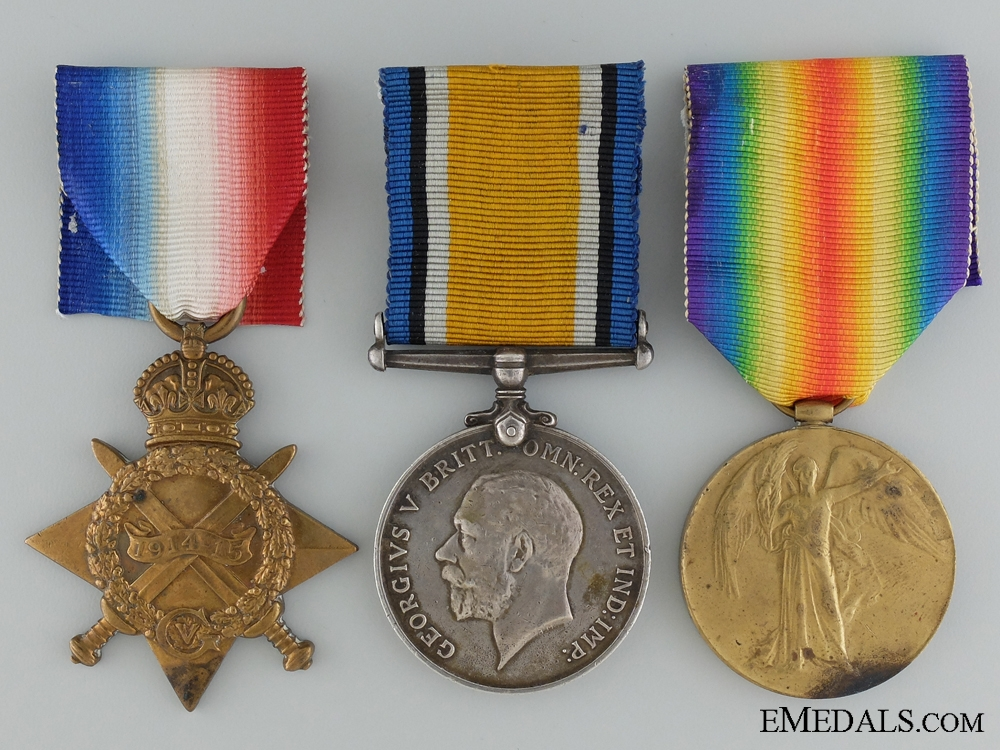 eMedals-A First War Medal Trio to the Canadian Field Artillery